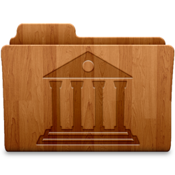 256x256px size png icon of Library Wood