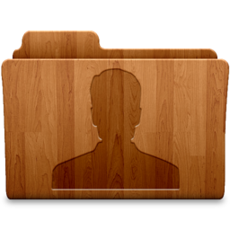 256x256px size png icon of User Wood