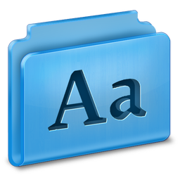 256x256px size png icon of Fonts