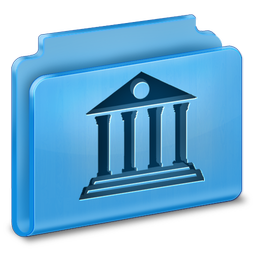 256x256px size png icon of Library