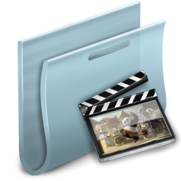 256x256px size png icon of Movies Folder 2