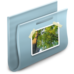256x256px size png icon of Pictures Folder 2