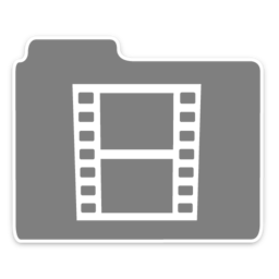 256x256px size png icon of Opacity Folder Movies