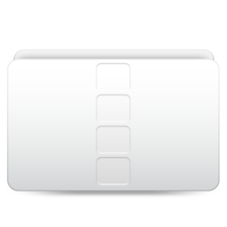 256x256px size png icon of Movies Videos