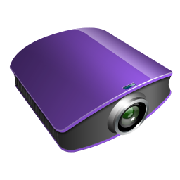 256x256px size png icon of projector violet