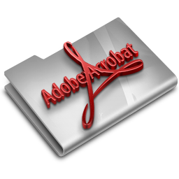 256x256px size png icon of Adobe Acrobat Reader CS3 Overlay