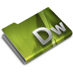 256x256px size png icon of Adobe Dreamweaver CS3 Overlay
