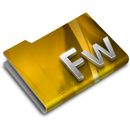 256x256px size png icon of Adobe FireWorks CS3 Overlay