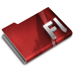 256x256px size png icon of Adobe Flash CS3 Overlay