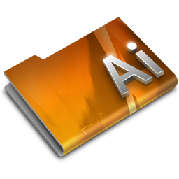 256x256px size png icon of Adobe Illustrator CS3 Overlay