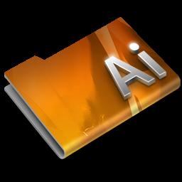 256x256px size png icon of Adobe Illustrator CS3 Overlay