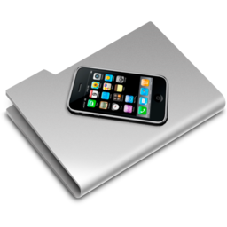 256x256px size png icon of iPhone Folder2