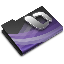 256x256px size png icon of Entourage Dark Overlay