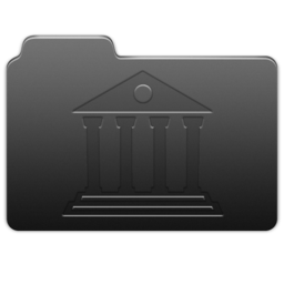 256x256px size png icon of Library Carbon