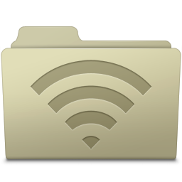 256x256px size png icon of AirPort Folder Ash