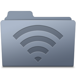 256x256px size png icon of AirPort Folder Graphite