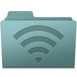 256x256px size png icon of AirPort Folder Willow