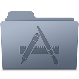 256x256px size png icon of Applications Folder Graphite