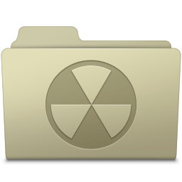 256x256px size png icon of Burnable Folder Ash