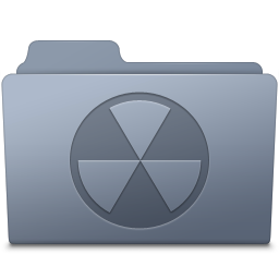 256x256px size png icon of Burnable Folder Graphite