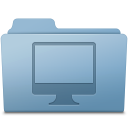 256x256px size png icon of Computer Folder Blue