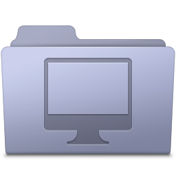 256x256px size png icon of Computer Folder Lavender