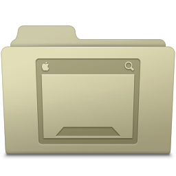 256x256px size png icon of Desktop Folder Ash