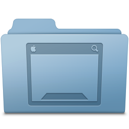 256x256px size png icon of Desktop Folder Blue