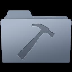256x256px size png icon of Developer Folder Graphite