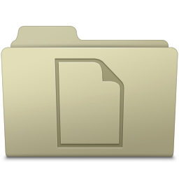 256x256px size png icon of Documents Folder Ash