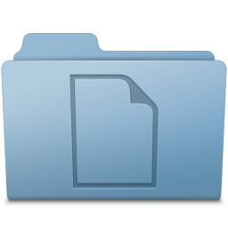 256x256px size png icon of Documents Folder Blue