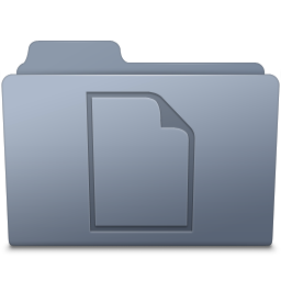 256x256px size png icon of Documents Folder Graphite