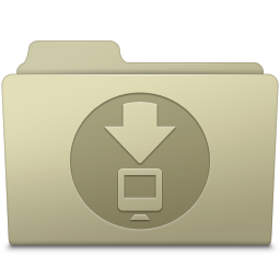 256x256px size png icon of Downloads Folder Ash