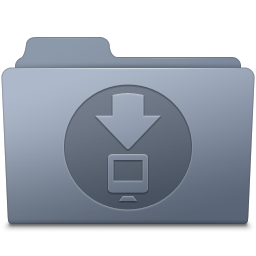 256x256px size png icon of Downloads Folder Graphite