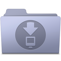256x256px size png icon of Downloads Folder Lavender