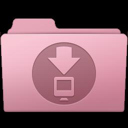 256x256px size png icon of Downloads Folder Sakura