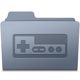 256x256px size png icon of Game Folder Graphite