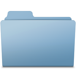 256x256px size png icon of Generic Folder Blue