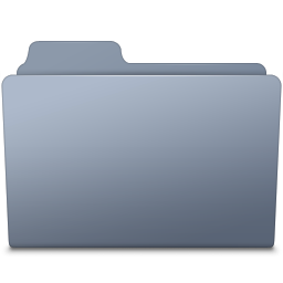 256x256px size png icon of Generic Folder Graphite