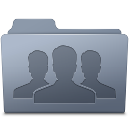 256x256px size png icon of Group Folder Graphite