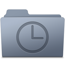 256x256px size png icon of History Folder Graphite
