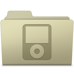 256x256px size png icon of IPod Folder Ash
