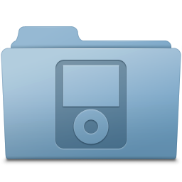 256x256px size png icon of IPod Folder Blue