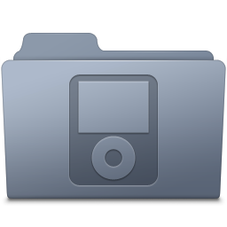 256x256px size png icon of IPod Folder Graphite