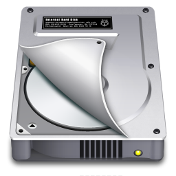 256x256px size png icon of Internal Drive Half open