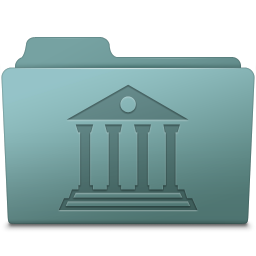 256x256px size png icon of Library Folder Willow