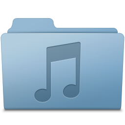 256x256px size png icon of Music Folder Blue
