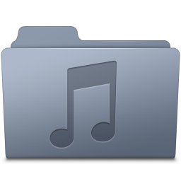 256x256px size png icon of Music Folder Graphite