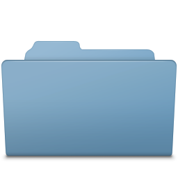 256x256px size png icon of Open Folder Blue