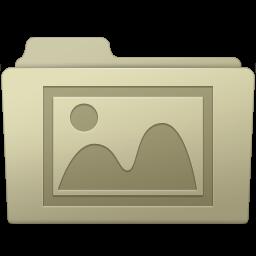 256x256px size png icon of Photo Folder Ash